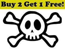 Skull & Crossbones Vinyl Decal Sticker Bumper Window Car Wall Pirate Jolly Roger