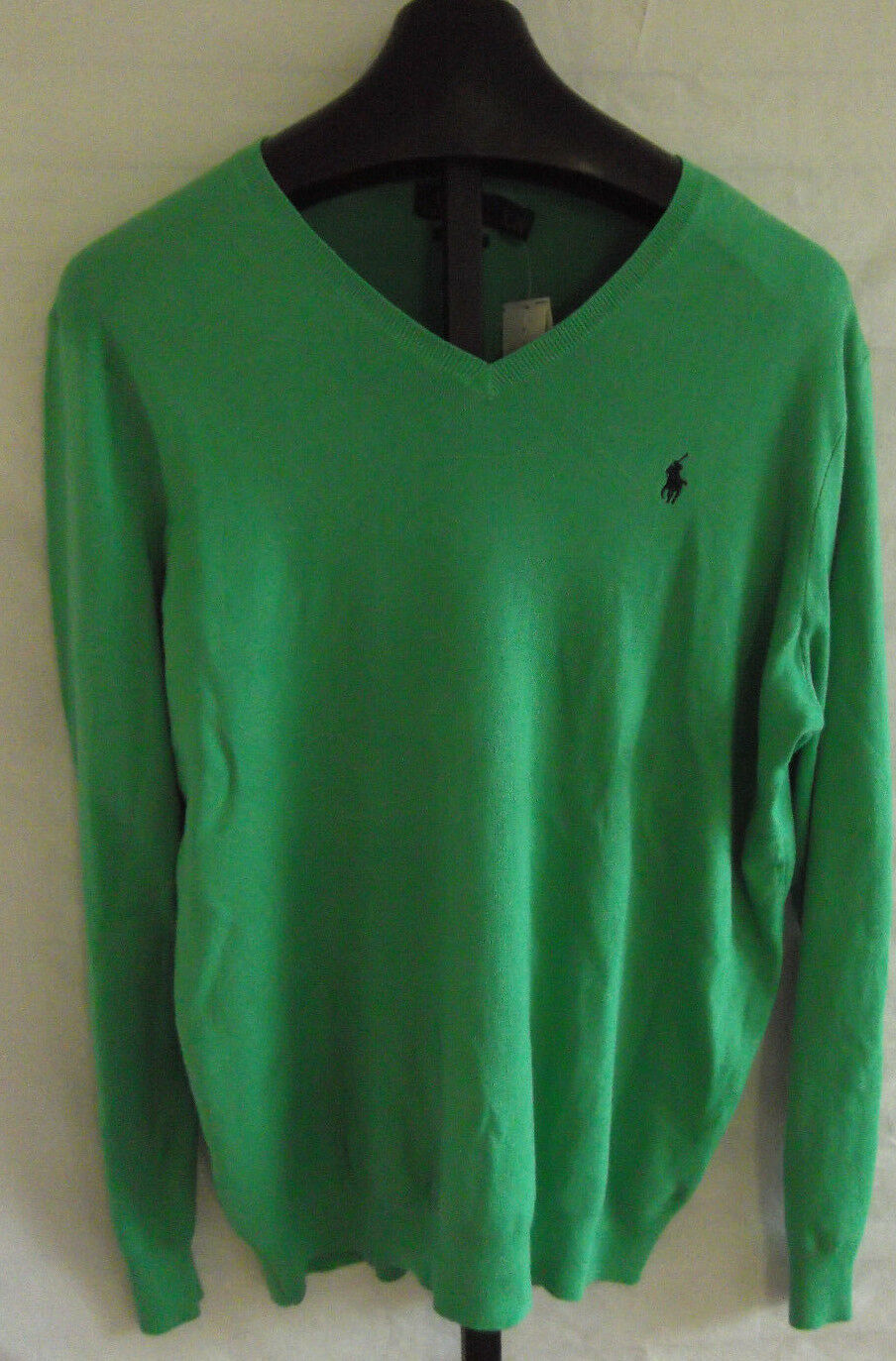 NWT Polo Ralph Lauren Tiller Grün Pima cotton Thin Knit Sweater  Herren L Tall