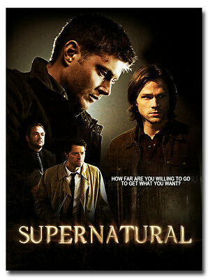 "Supernatural Season 10 TV Series Art Silk Fabric Poster Print 13x18 24x32/"" 012"