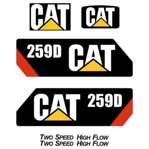 232D 236D 242D 246D 259D 262D 272D 277D Skid Steer loader Repro decal Kit