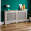 thumbnail 282 - Radiator Cover White Unfinished Modern Traditional Wood Grill Cabinet Furniture