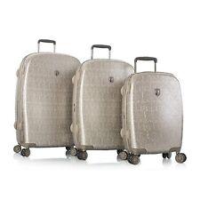 Heys Luggage 3pc Set Motif Femme Hardcase Spinner Suitcases Champagne