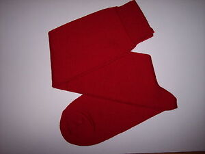 10 39/40 Knowledgeable Calze Uomo Lungo Maglia Rasata Rosso 100% Cotone Makò Tg To Win Warm Praise From Customers