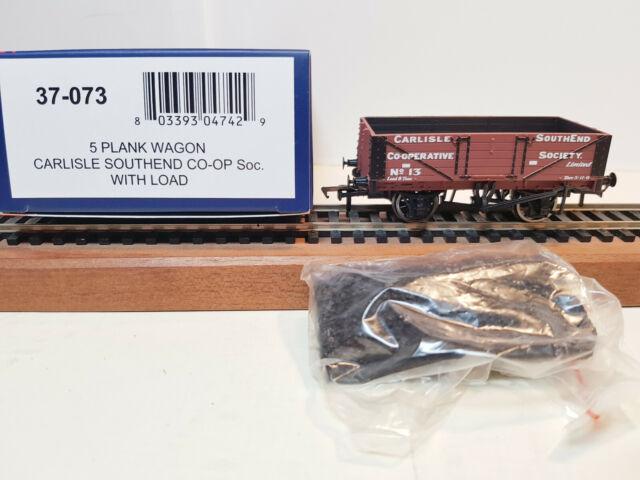 37-073 Bachmann 5 Plank Wagon Carlisle Southend Co-op Soc with Load