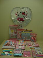 Lot ~ HELLO KITTY~ Party Supplies for 8 ~ ( Over 100 Items) ~ New In Packages
