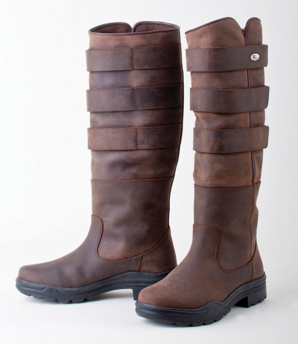RhineGold Farbeado RIDING YARD LAND Stiefel LEATHER Größen 3 - 8 Erwachsene