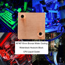 40*40*10mm Waterblock Liquid Cooler For CPU GPU Liquid Cooler Laser Head JL