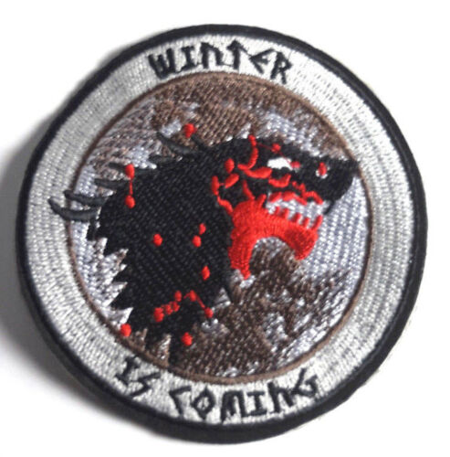 """Game of Thrones Winter Is Coming- STARK House Patch 3.5""""- FREE S&H (GTPA-011)"""