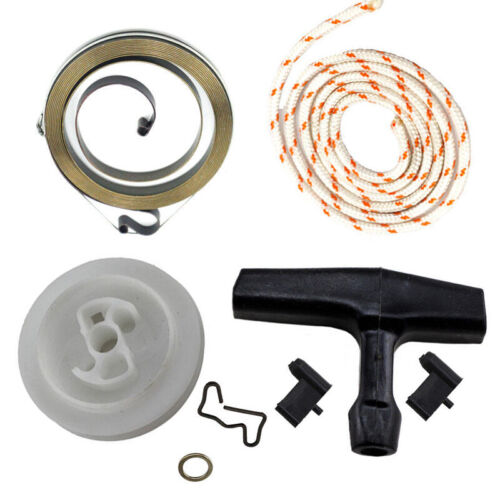 Recoil Rewind Spring Starter Pulley Handle Rope Rotor Pawl For STIHL MS440# 460