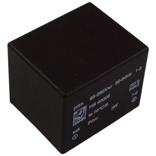 HAHN HS40005 Trafo AC//DC-Wandler 5V 600mA Electronic Transformer 856410