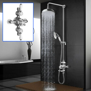 Image Is Loading Edwardian Traditional Thermostatic Shower  Mixer Diverter Valve 8