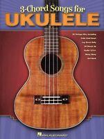3-chord Songs For Ukulele Sheet Music Ukulele Book 000701900