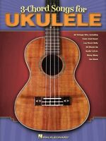 3-chord Songs For Ukulele Sheet Music Ukulele Book 000701900