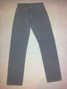 Levis Strauss Jeans Pantalon Noir Unicolore W28 L32