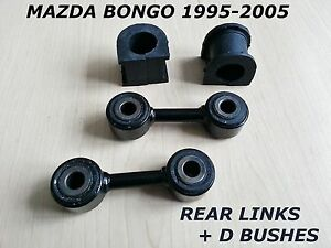 FOR-MAZDA-BONGO-FRIENDEE-REAR-ANTIROLL-STABILISER-DROP-BAR-LINKS-D-BUSHES-LINK