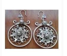 beautiful tibetan tibet miao silver earrings