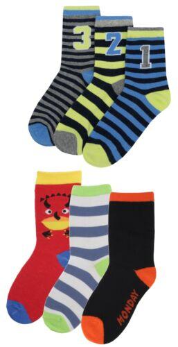 Zest Boys 6 Pack Lucky Dip Character Design Socks