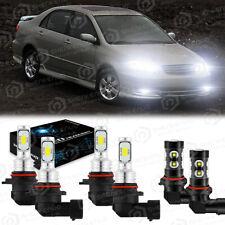 For Toyota Camry 2002 2003 2004 2005 2006 6x Led Headlight Fog Light Bulbs