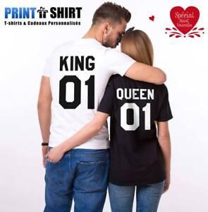 Queen shirt Tee St Humour Duo Cadeaux King Personnalisé shirts Valentin T St8xBq