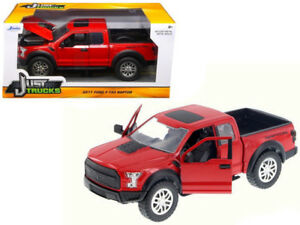 2017-Ford-F-150-Raptor-Pickup-Diecast-Model-1-24-Red-98581