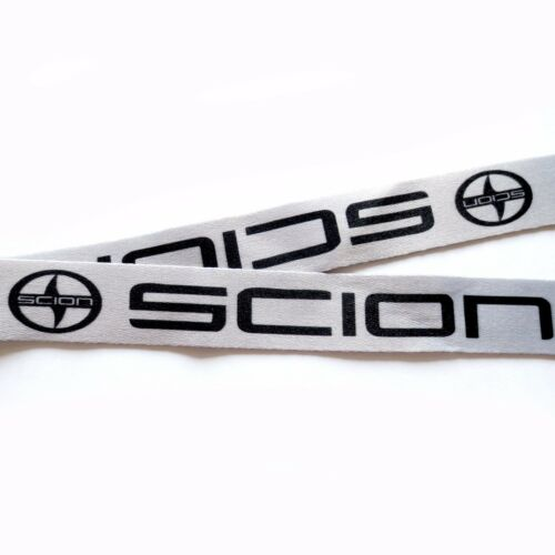 SCION Lanyards 1 inch x 22 inch KeyChain ID Badge Cardholder Light Gray