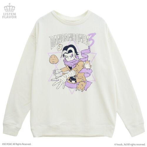 NEW Danganronpa V3 Gundham Tanaka Listen Flavor Sweat Shirt White Harajuku NEW