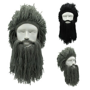 yuanjiagou-Noel-Coiffure-Bonnet-de-Viking-Masque-de-ski-Barbe-Haricot-sauvage