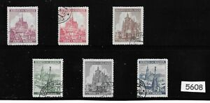 Complete-WWII-stamp-set-B-a-M-German-Occupation-Cathedrals-Third-Reich-era