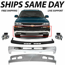 NEW Complete Front Bumper Kit w/ Fog Lights For 2000-2006 Chevy Suburban Tahoe