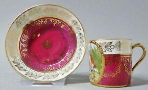 G1906-Espresso-Mokkatasse-Boehmen-um-1900-Gold-staffiert