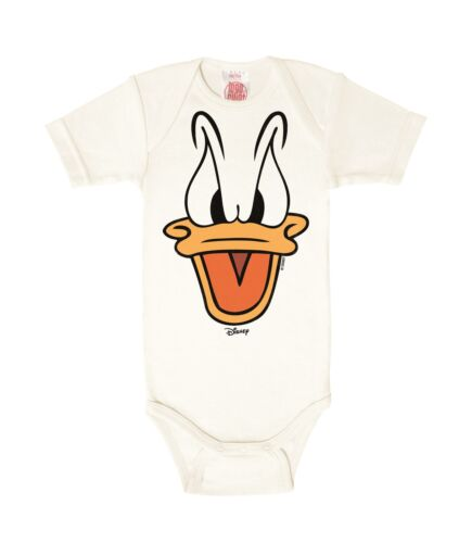 weiß LOGOSHIRT Matrose -Donald Duck Baby Body Comics Strampler Disney
