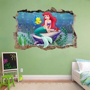 Image Is Loading THE LITTLE MERMAID Smashed Wall Decal Removable Wall