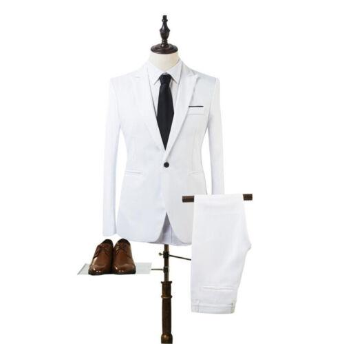 Men/'s Classic Blazer Suit Tuxedo Coat Business Party Wedding Formal Pants Sets