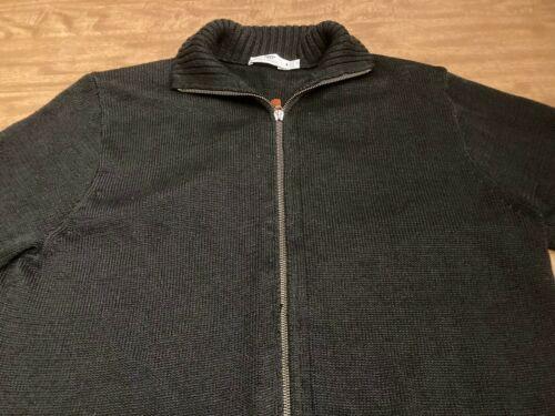 Inis Meain Linen Sweater Jacket Men's MED Black Ma