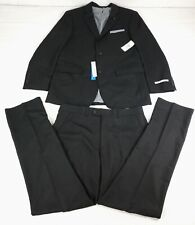 Perry Ellis Mens Two Piece Finished Bottom Slim Fit Suit