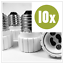 10-x-Adapter-E27-GU10-Lampenfassung-Konverter-Sockel-Lampensockel-Fassung Indexbild 4