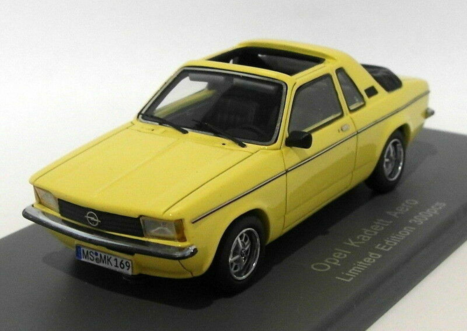 OPEL KADETT AERO OPEN ROOF jaune 1978 NEO 43078 1 43 300 PCS RESIN jaune APERTO