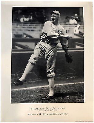 Shoeless Joe Jackson Ty Cobb Vintage 8x10 Glossy Photo Mint Condition
