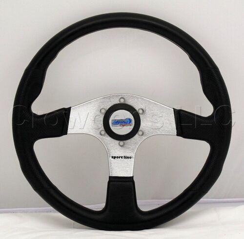 Sport Line 350mm Atlantic Marine Boat Steering Wheel Black Polyurethane