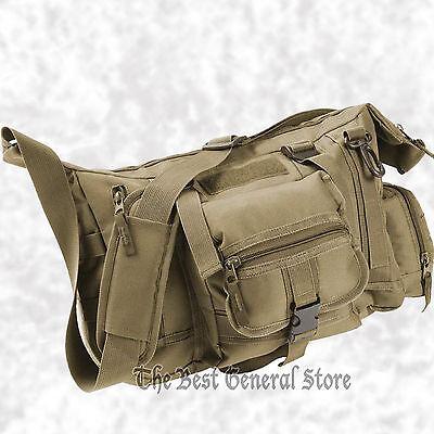 """600D Army Olive Drab Green 15"""" Tactical Style Messenger Shoulder Bag Range Hunt"""