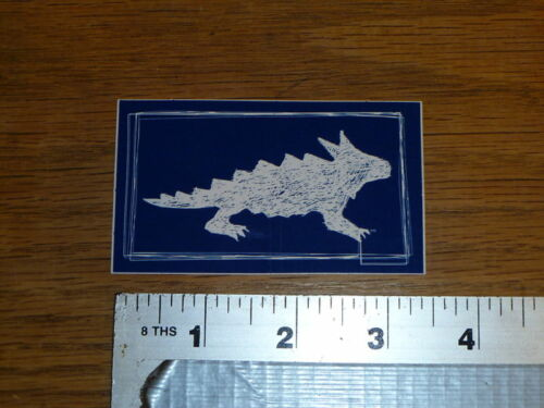 Horny Toad Blue//white Sticker Decal