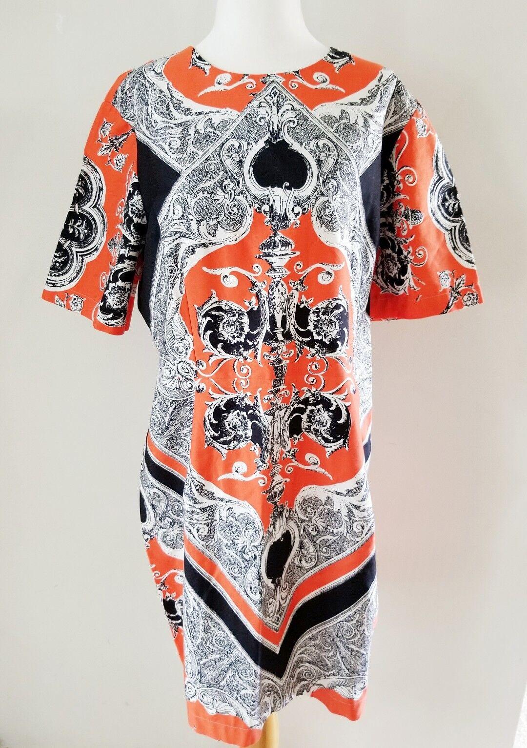 NWT ASOS orange SHIFT DRESS SZ 14