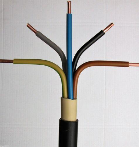 NYY-J 5x6 mm² 70m Meter Erdkabel Starkstromkabel Installationskabel Kupferkabel