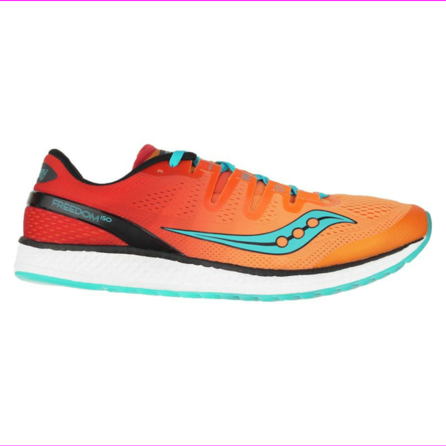 Saucony S20355 8 Freedom ISO Orange Red Men's Running Shoes Size 8.5 US
