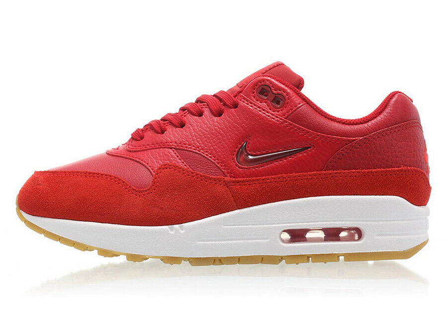 WMNS Nike Air Max 1 PRM SC SZ 8 Red Gym Red White AA0512-602