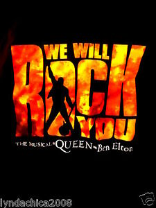 WE WILL ROCK YOU Musical Shirt By Queen & Ben Elton (Size