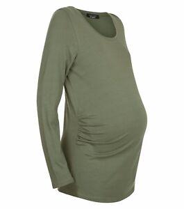 Maternity-New-Look-a-Maniche-Lunghe-Color-Cachi-Nuova-Con-Etichetta-Taglia-8-10-12-14-16
