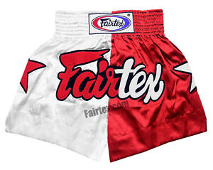 7ab1216bdf40 Image is loading BS113-Fairtex-Patriot-limited-edition-red-Muaythai-Fight-