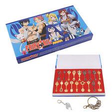 Cosplay Fairy Tail Lucy Celestial Zodiac Spirit Gate Keys 18pcs Keychain
