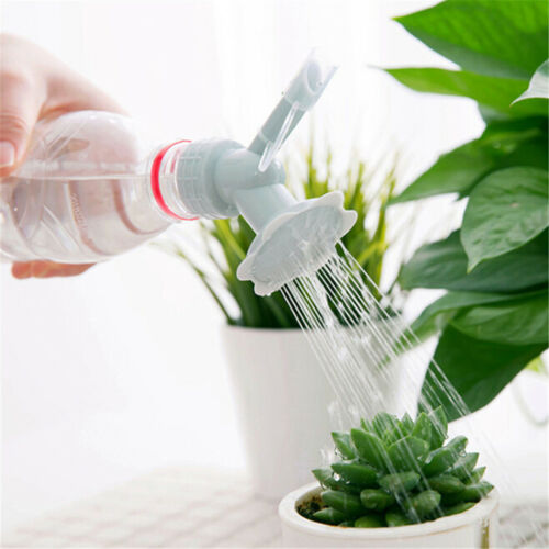 2 In 1 Plastic Sprinkler Nozzle For Waterers Bottle Watering Cans Shower Head VH